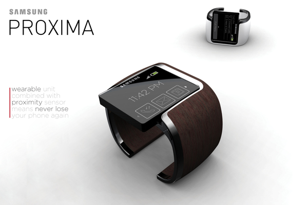 me want: (Samsung concept phone watch)