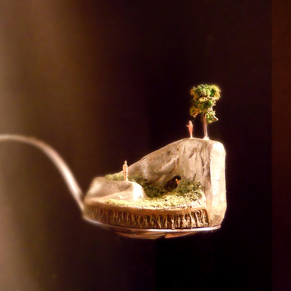 weird, but def a me want: (Bite Sized Landscapes in a Spoon by ThirstAndHowl)