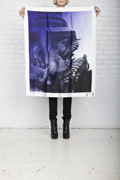 me want: Scarfs/Poloroids by Philippe Roucou