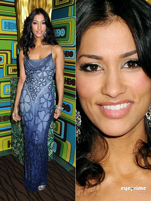 Janina Gavankar arrives at the HBO Golden Globe Awards Party in Beverly Hills, Jan 16