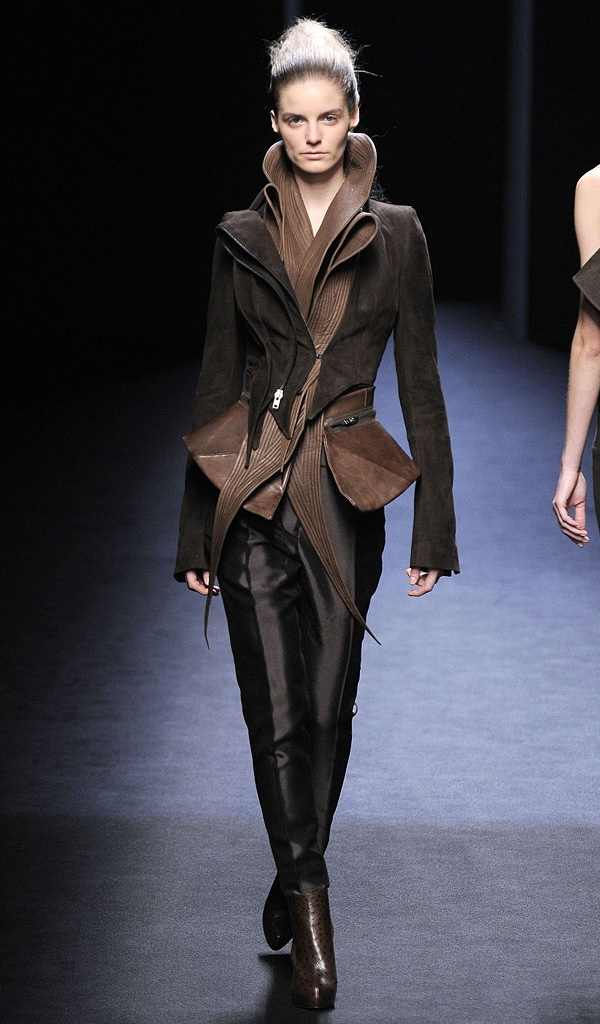 me want: (leaf-like structured leather by Haider Ackermann)