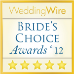 2012 WeddingWire Bride's Choice Award