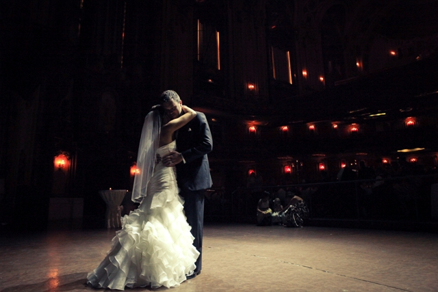Beautiful wedding in Kansas City at the Midland theater that I had the privilege of DJing.