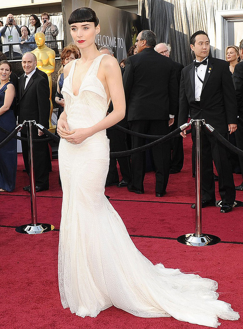wedding dress inspiration from the oscars: rooney mara in givency haute couture. LOVE.