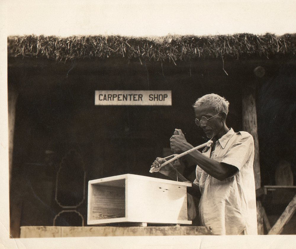 Carpenter / India / 1945 Photo by my great grandfather Ollie Swift