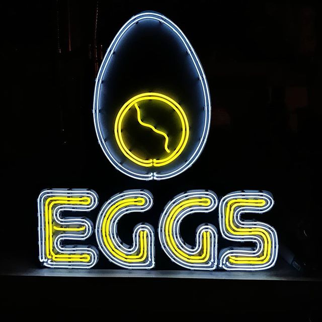 Just finished building a miniature neon sign for our farm fresh eggs.