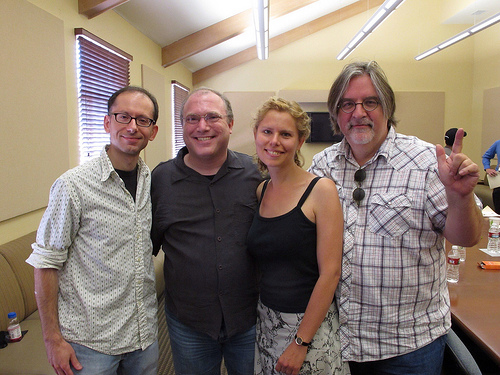 David, me, Sarah, and Matt Groening