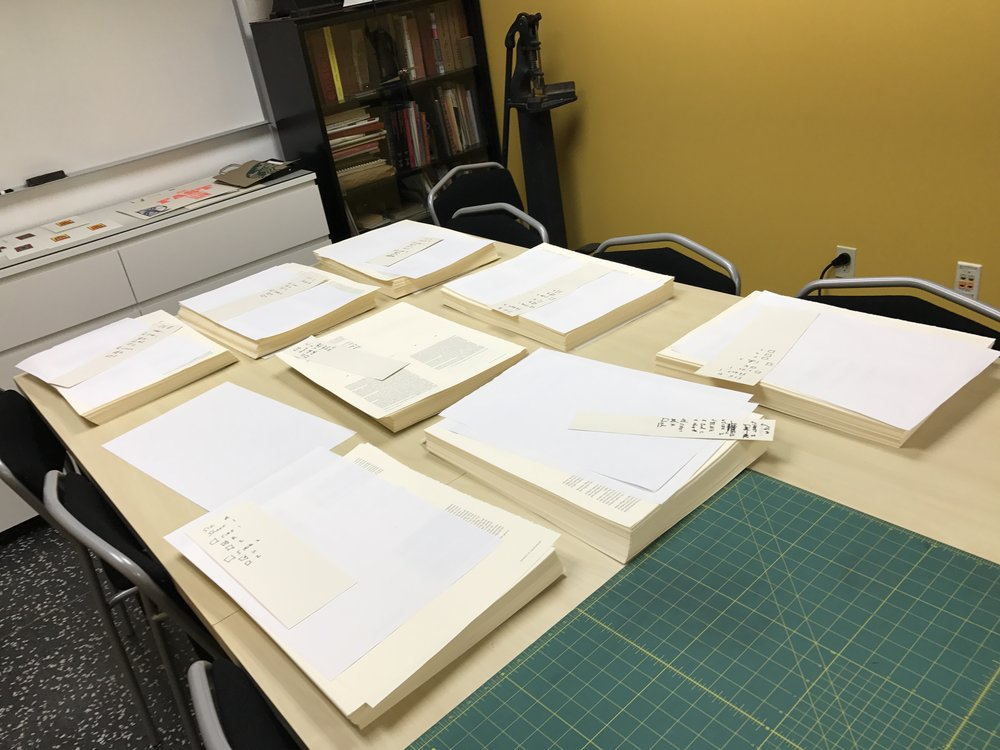 Stacks! - All the sheets that will make up the finished book.