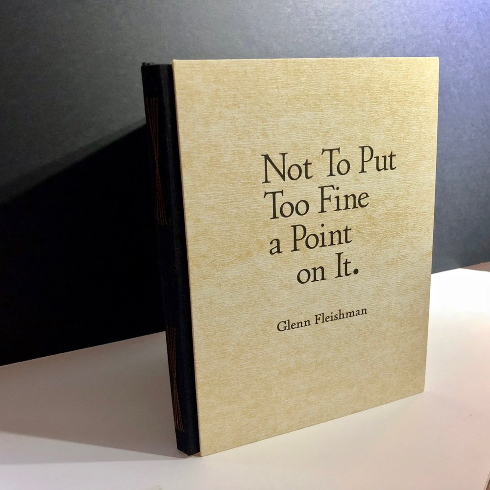 The hand-bound letterpress edition