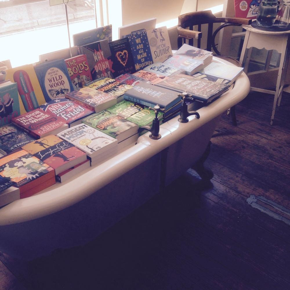 A bath full of Books at Mr B's Emporium