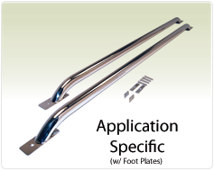 """Raptor Series 1.9"""" Tubular Truck Bed Rail Stainless Steel Application Specific"""