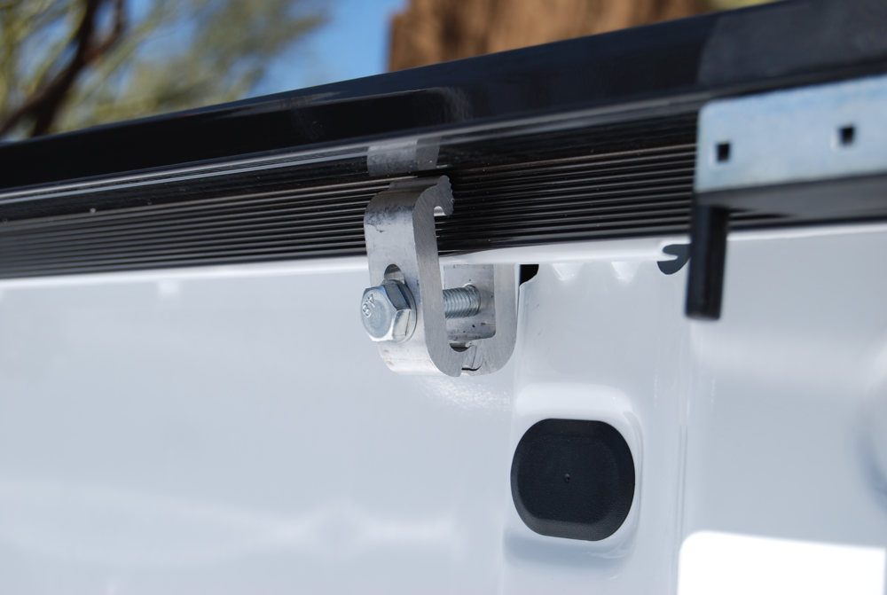 No   Drill   Installation    High Strength 6063 Aluminum Mounting Clamps secures the side rails to your truck for a No Drill installation.