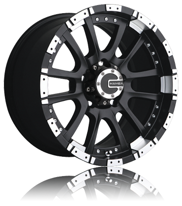 Mamba M12 Matte Black Machined OffRoad Truck Wheels