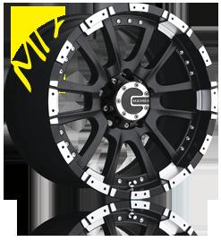 Mamba M12 Matte Black Machined OffRoad Wheels