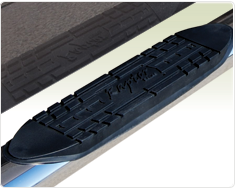 "Raptor Series 5"" Stainless Steel Cab Length Oval Tube Side Step Nerf Bars"