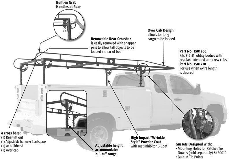 Utility Body Ladder Rack Buyers Product