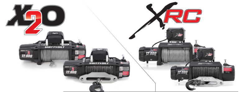 Smittybilt New and Improved Gen2 Waterproof X20 and XRC Winches Side By Side