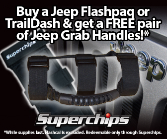 FREE GRAB HANDLES WITH PURCHASE OF JEEP FLASHPAQ OR TRAIL DASH!