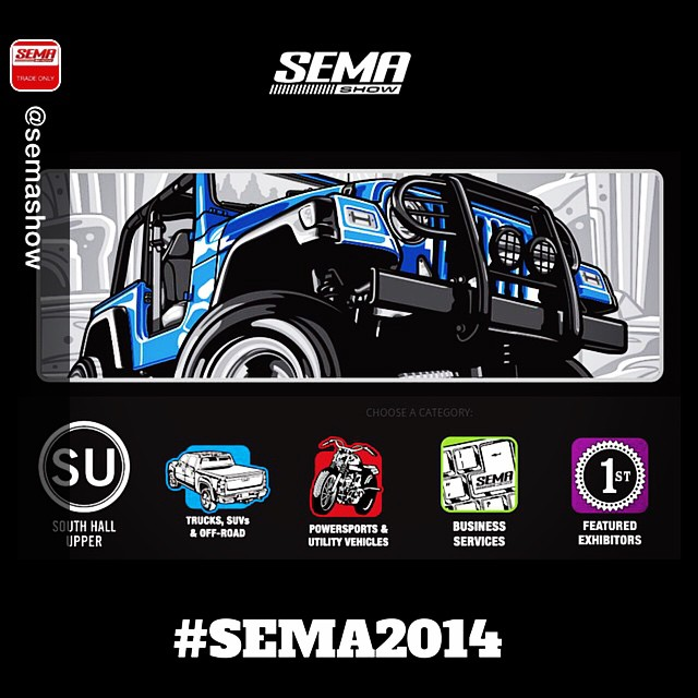 Direct from @semashow ready to talk business? SEMA Show - South Hall Upper // Trucks, SUVs & Off-Road :: Powersports & Utility Vehicles :: Business Services #offroadupgrades #sema2014 #semashow #sema #trucks #suv #utv #powersports #offroad #4x4 #tradeshow #semabuild #sematrucks #semacrunch #semaprep