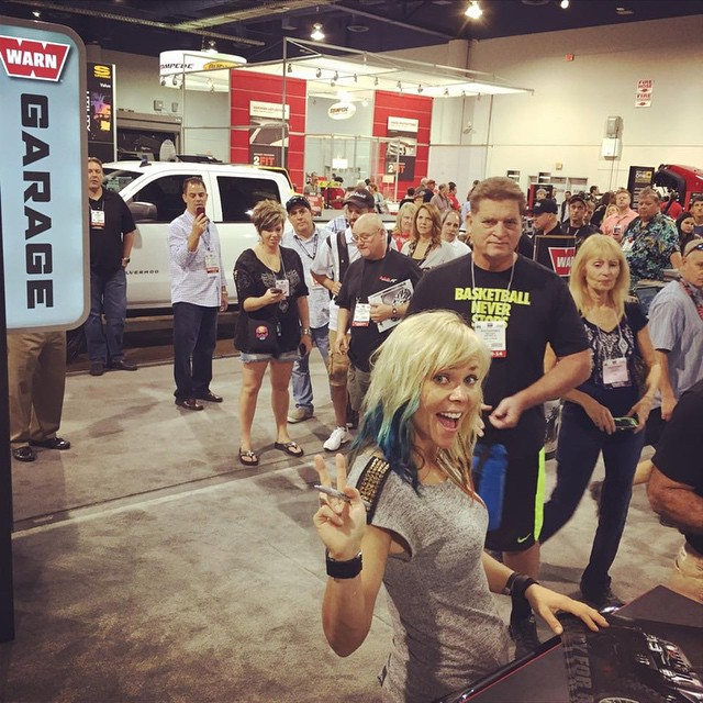 Had a great time at the 2014 SEMA SHOW! I stopped by the Warn Industries Garage and got to meet Jessi Combs! Thank You @thejessicombs #offroadupgrades #jessicombs #warn #warnwinches #SEMA #SEMA2014 #semashow #wemadeit