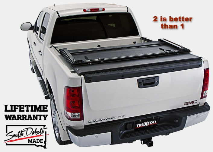 TruXedo Deuce First & Only Soft Roll-up, Hinged Tonneau Cover Combination