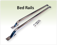 "Raptor Series 1.9"" Tubular Truck Bed Rails Stainless Steel"