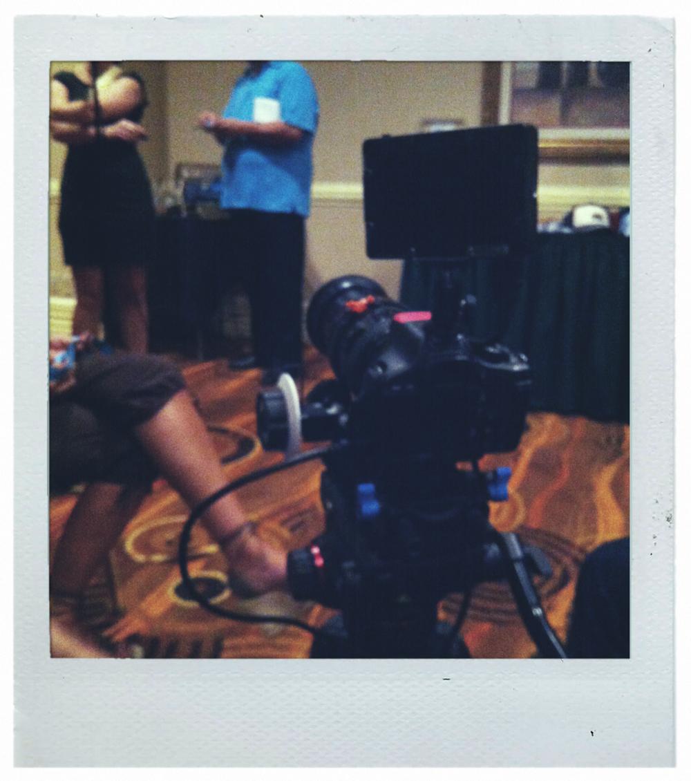 The camera setup.