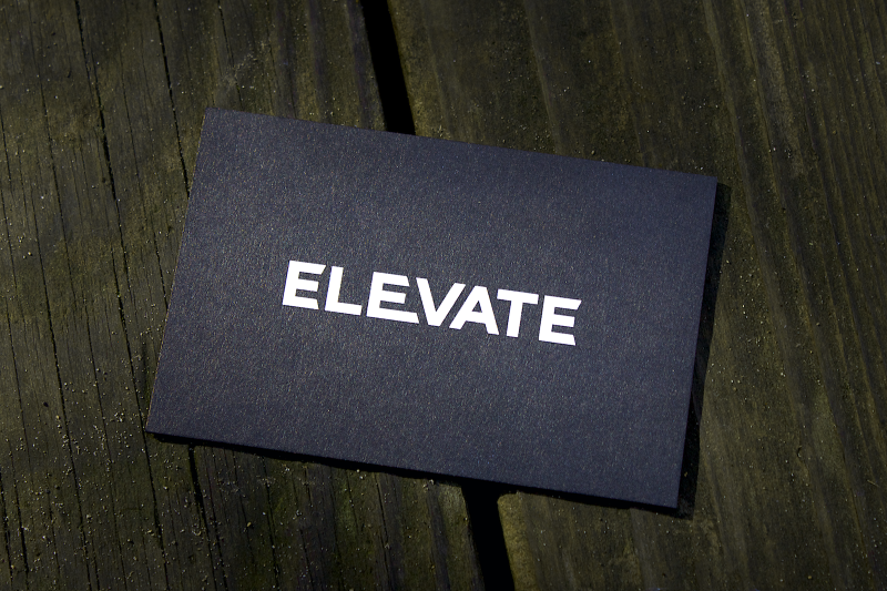 New Elevate Visuals business cards.