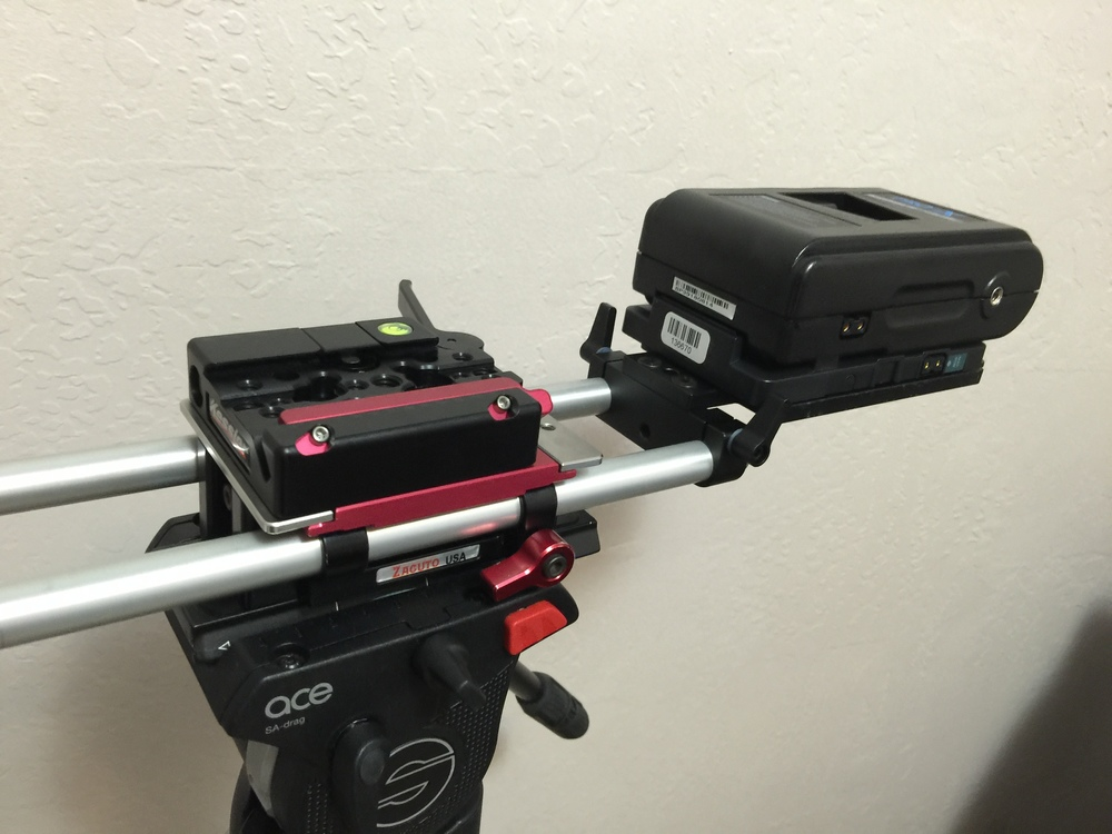 Kessler Kwik release on an old Zacuto Universal Mini Baseplate.