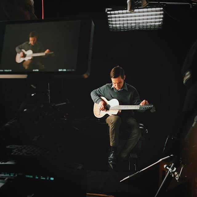 📸 From the other day filming antique guitars dating back to the 1500's 😳 . . . #bmpcc4k #guitar #antiqueguitars #martinguitar #blackmagicdesign #sigmaphoto #arri #kinoflo #idxbattery #smallhd #johannstauffer #woodencamera #sachtler #chimeralighting #marin #nisifilters #videoproduction #gh5s #corporatevideo #702bright #smallrig #camerarigz #camerarigs #🎸