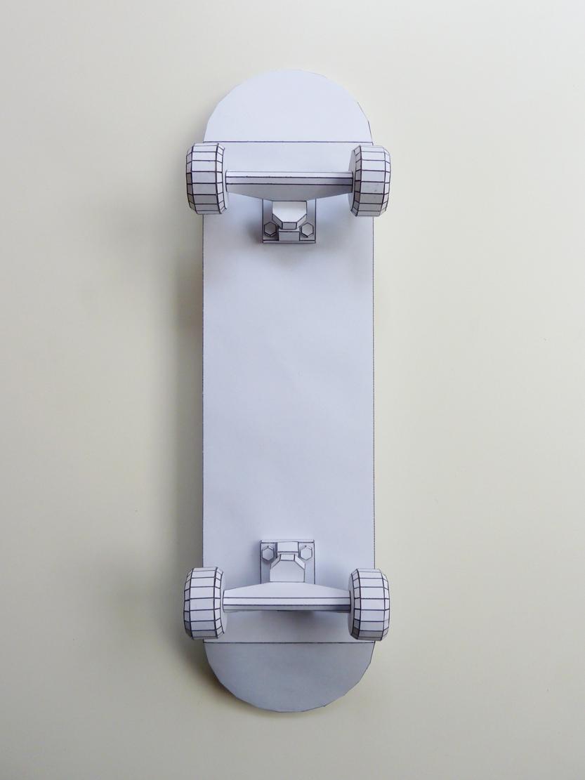 Paper Art Skateboard