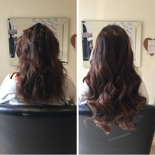 Before after best hair extensions melbourne russian hair 12 head weave pmusecretfo Image collections