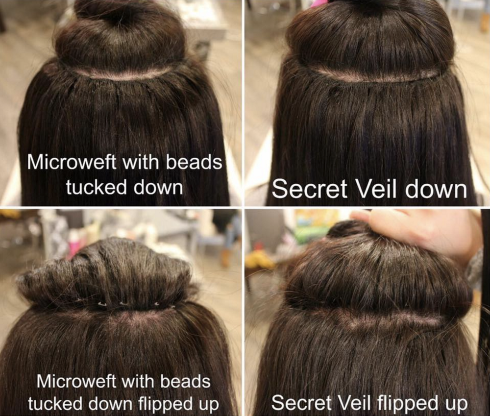 Secret Veil The 1 Hair Extension Method That Is 100 Invisible