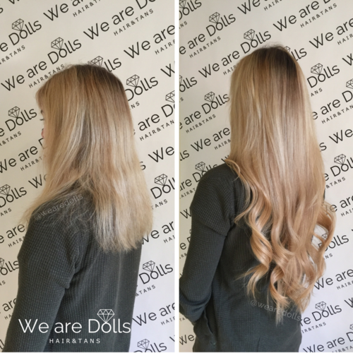 Before after best hair extensions melbourne russian hair skin weft tape extensions 24 inchg pmusecretfo Choice Image