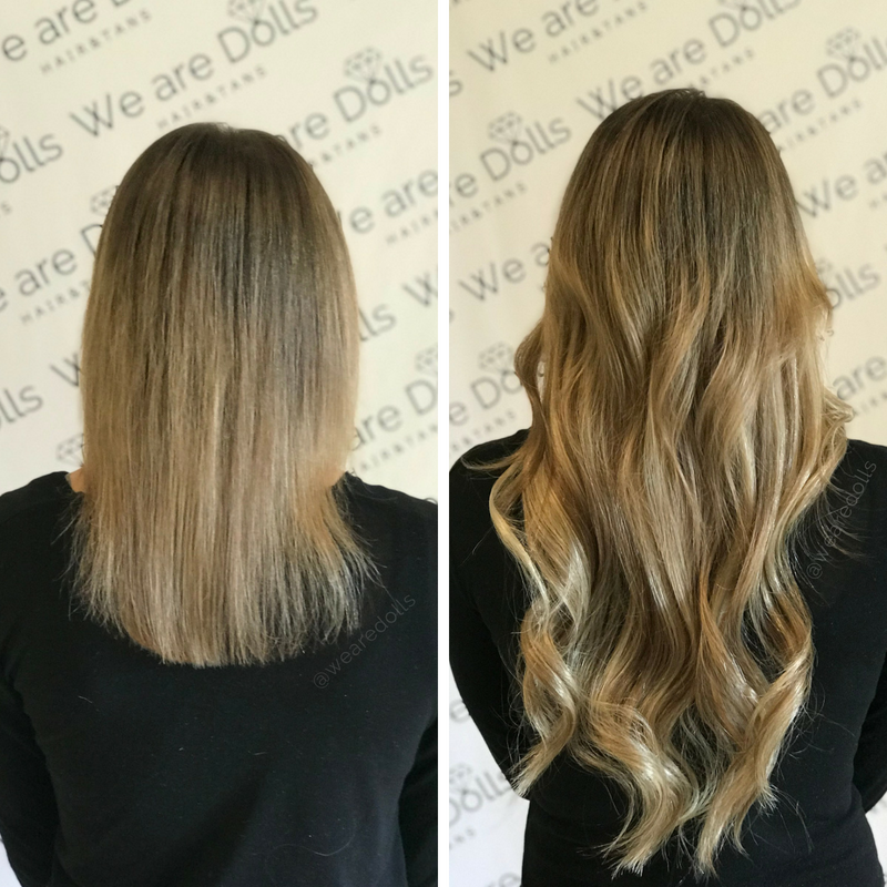 Before After Best Hair Extensions Melbourne Russian Hair