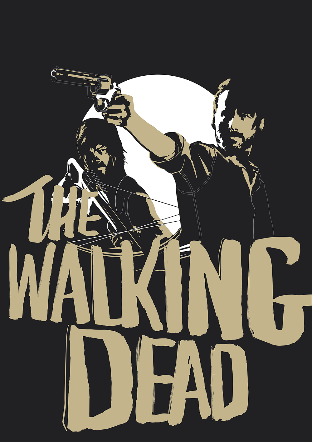 new poster the walking dead jeffrey huynh. Black Bedroom Furniture Sets. Home Design Ideas