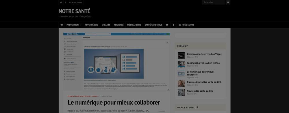 Entrevue avec Xavier Boilard, PDG d'Omnimed   Le numérique pour mieux collaborer    Lire l'article