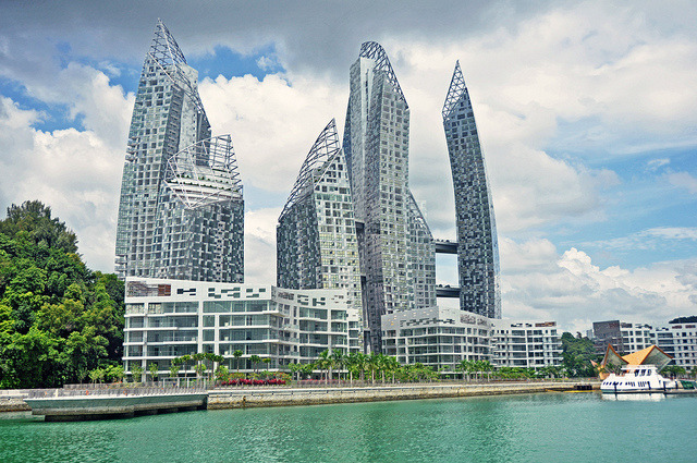 The nearby famed condominium - 'Reflections at Keppel Bay'