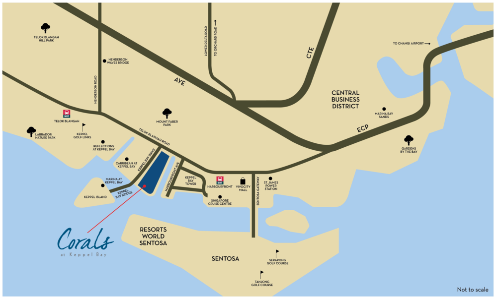 Corals at Keppel Bay Map (click to enlarge/minimize)
