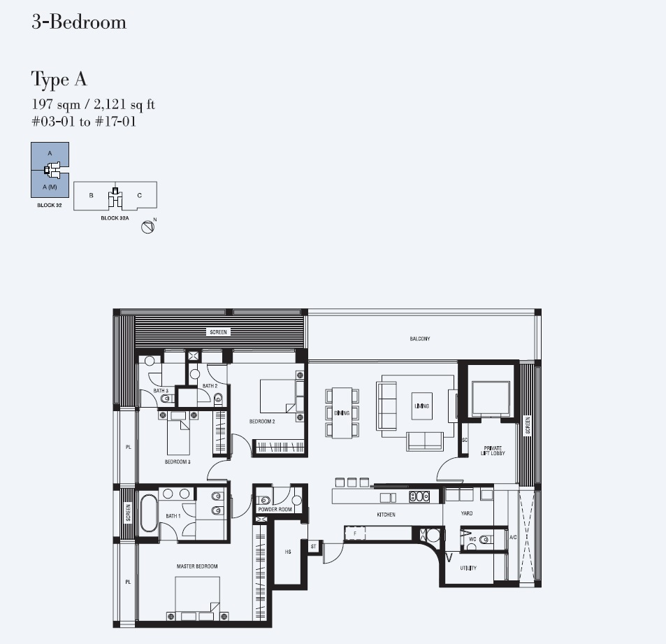 3 Bedroom - Type A