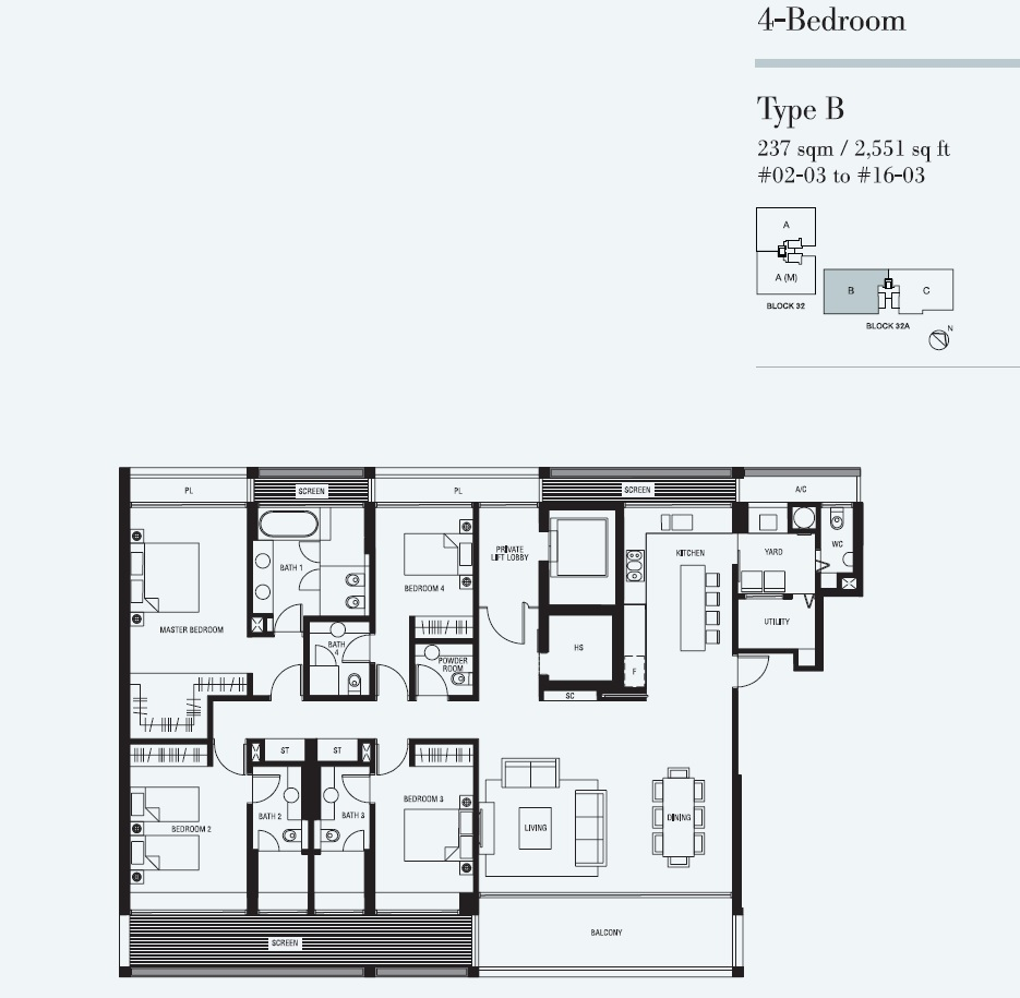 4 Bedroom - Type B