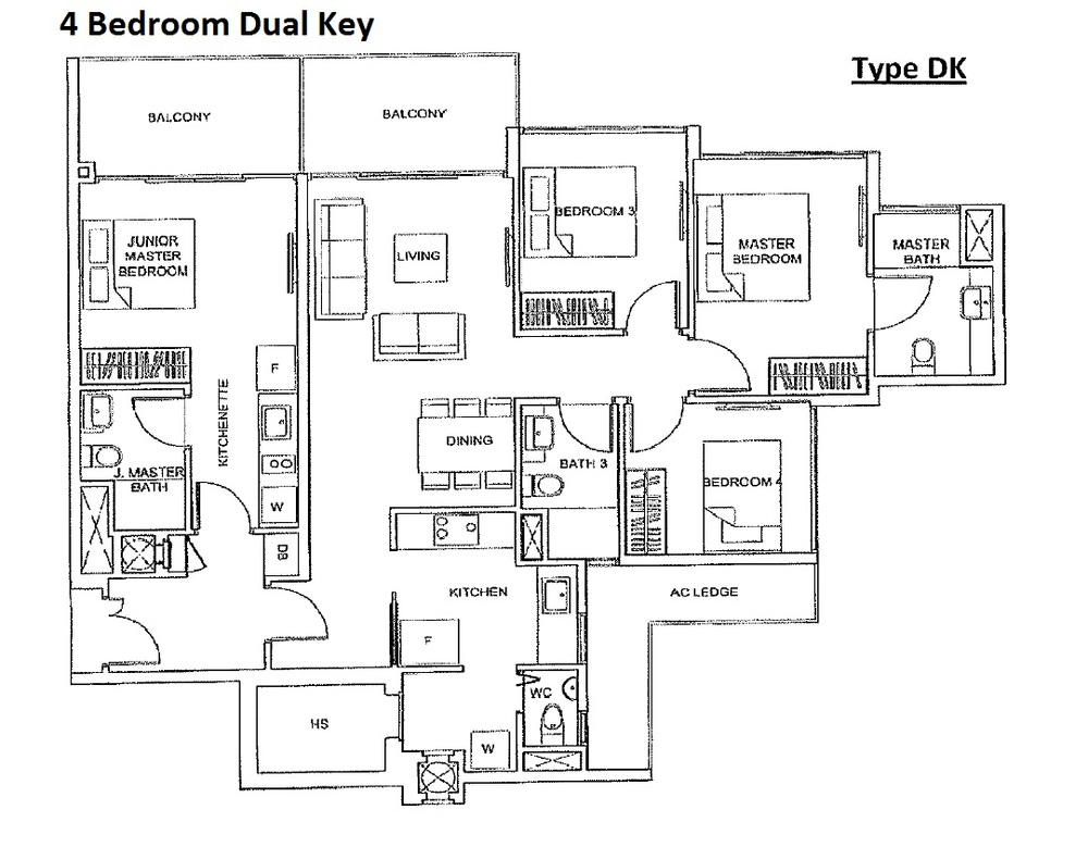 4 Bedroom Dual Key