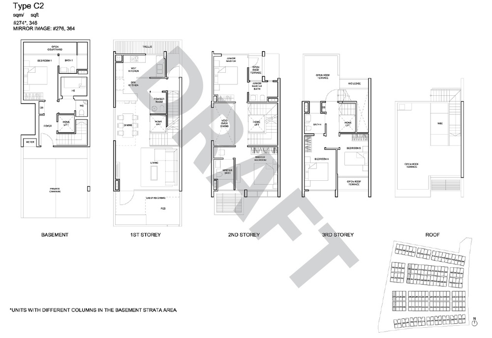 Corner Terrace floor plan - type C2