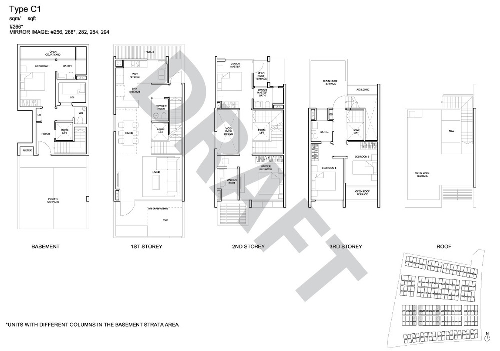 Corner Terrace floor plan - type C1