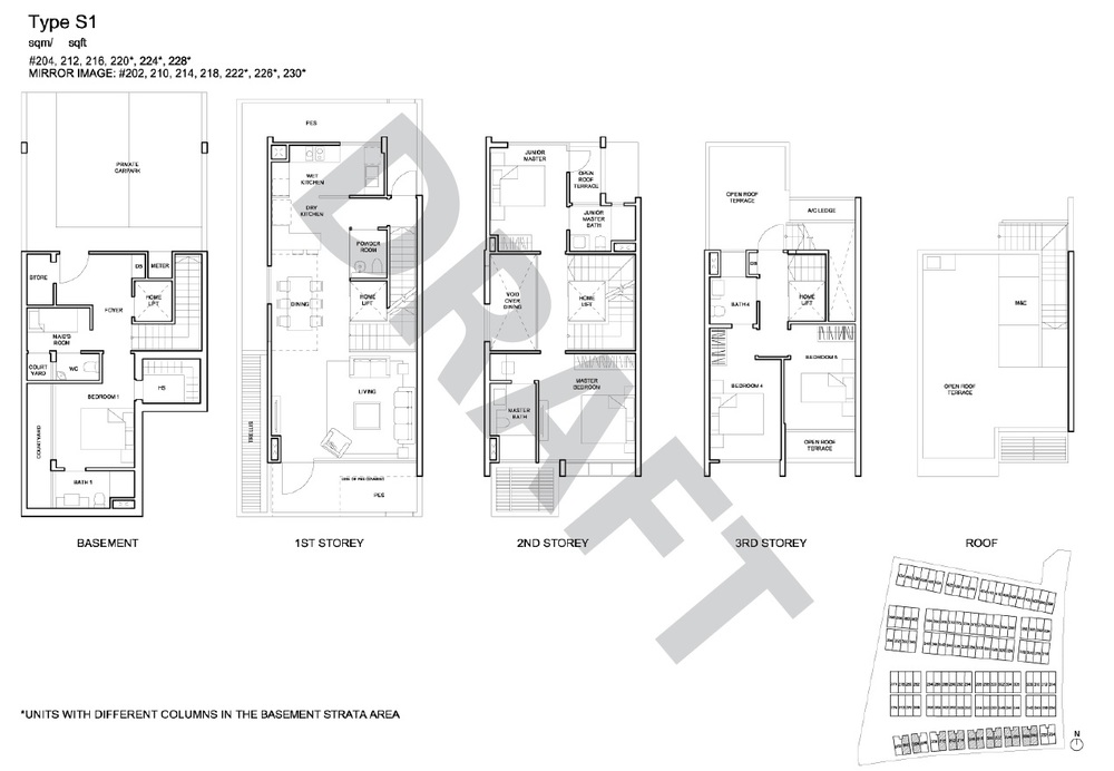 Semi Detached floor plan