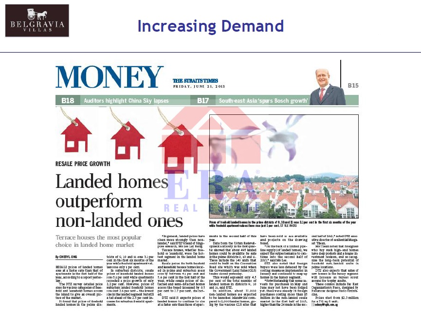 Landed homes in greater demand
