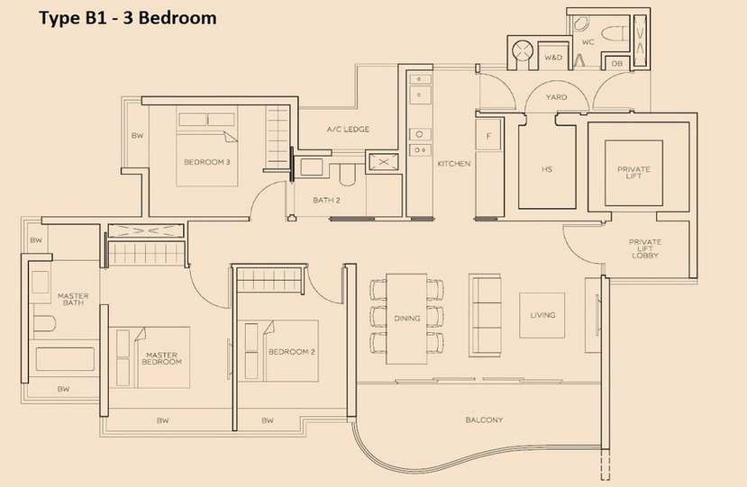 The Meyerise 3 Bedroom B1