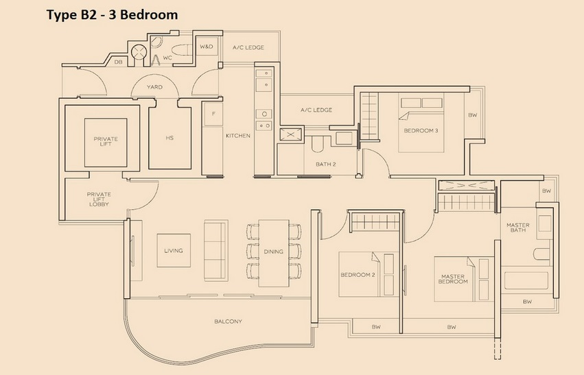 The Meyerise 3 Bedroom B2