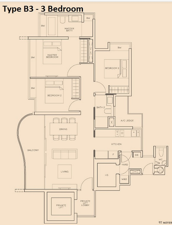 The Meyerise 3 Bedroom B3