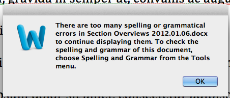 I always knew spelling wasn't my forte, but I wasn't expecting MS Word to call me out on it.